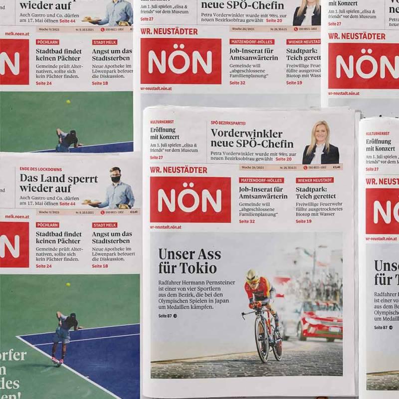 Funktion Studio – Niederösterreichische Nachrichten NÖN Grafik Design